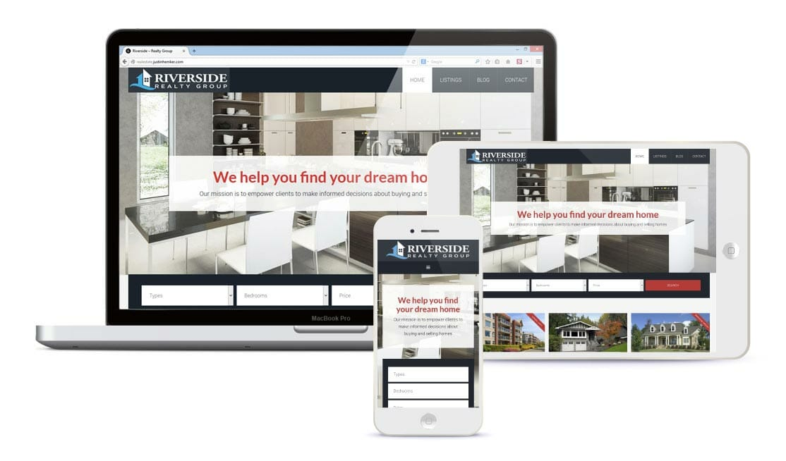 We build semi-custom real estate websites